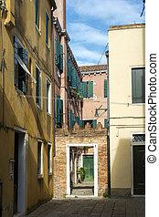 panorâmico, quintal, em, veneza