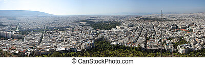 Panoram of Athens, Greece