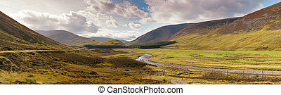 Panoram of the Scottish Highlands