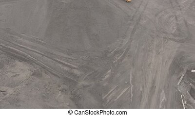 Panorama aerial view shot UHD 4K, open pit mine, breed...