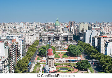 panorama, aires, argentina, buenos