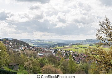 Panorama at Schoenberg in the bavarian forest