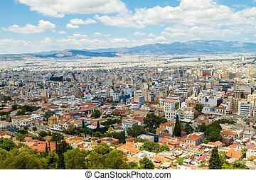 panorama, atenas, grécia