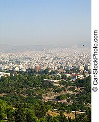 panorama, atenas, grécia, capital