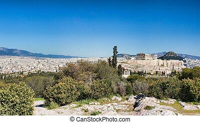 panorama, athènes