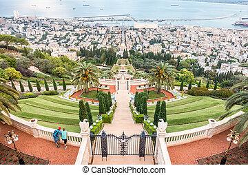 panorama, av, haifa, israel