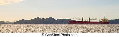 panorama, bateau, cargaison