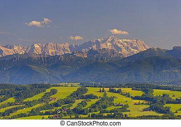 panorama, bavière, paysage