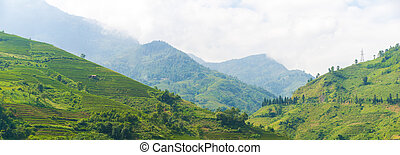 Panorama Beautiful View of mountains