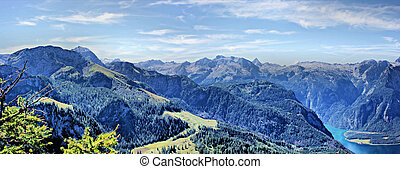 Panorama Berchtesgaden Alps