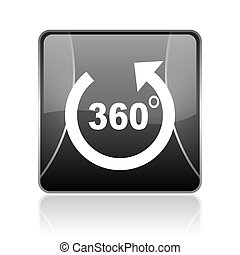 panorama black square web glossy icon