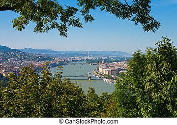 panorama, budapest, ungarn