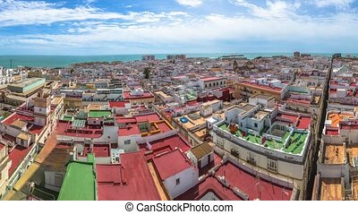 Panorama Cadiz Spain - Panorama of Cadiz Town on a sunny day...
