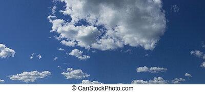 panorama, ciel, nuageux