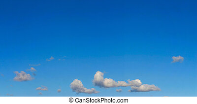 panorama, cielo brillante