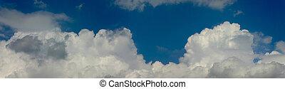 panorama, cielo, nuvoloso