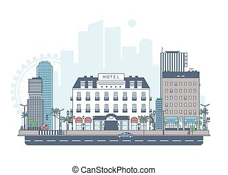panorama, city.