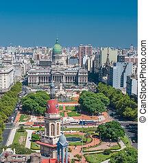 panorama, de, buenos aires, argentine