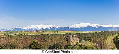 panorama, de, castillo, castilnovo, château, espagne