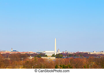 panorama, de, c.c. washington