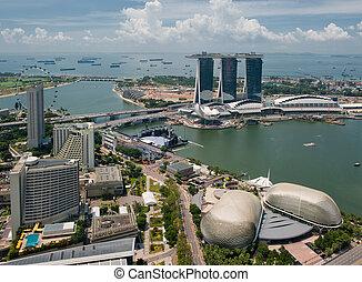 panorama, de, cingapura