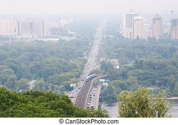 panorama, de, kiev