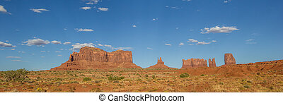 panorama, de, monument valley, en, arizona
