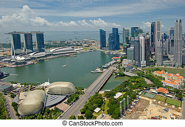 panorama, de, singapur