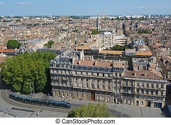panorama, di, bordeaux, francia