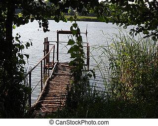 panorama, di, laghi, fiumi, e, acqua