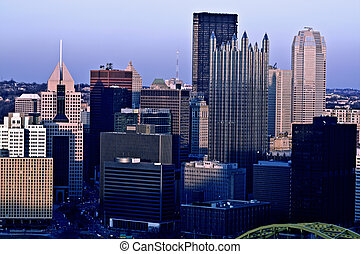 panorama, di, pittsburgh, pennsylvania