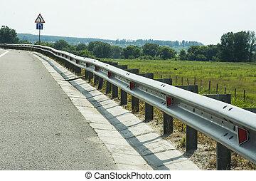 panorama, dia ensolarado, estrada