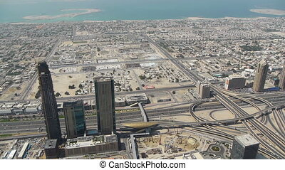 panorama, dubai, burj, tour, khalifa