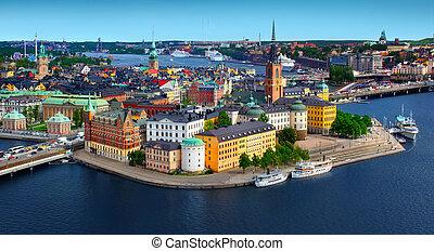 panorama, Estocolmo, Suecia