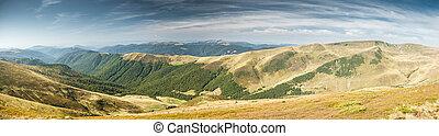 panorama, fjäll landskap