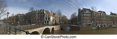 Panorama from Amsterdam Netherlands