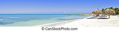 Panorama from Palm beach on Aruba island