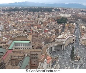 Panorama from Saint Petro Basilica in Vatican