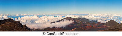Panorama from the Summit of Haleakala, Maui