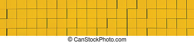 panorama, giallo, metallico, fondo, facciata, pannello
