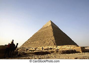 panorama, giza, cario, pirámides