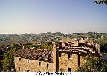 panorama, granska, italiensk