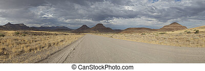 panorama,  hardap, surprenant, Paysage lunaire, Namibie,  région, paysage