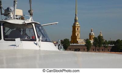 panorama, hinten, tragflügelboot, gefäß, meteor, peter, und,...