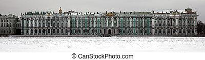 panorama, hiver, ermitage