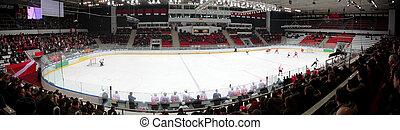 panorama, hokej, stadion