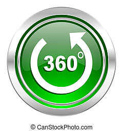 panorama icon, green button