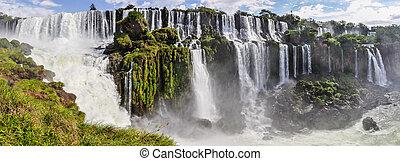 Panorama, Iguazu Falls, Argentina - Panorama at Iguazu...