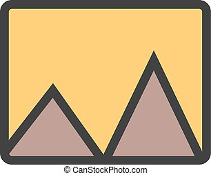 Panorama, image, beauty icon vector image. Can also be used...