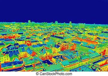 panorama, image, infrarouge, zagreb